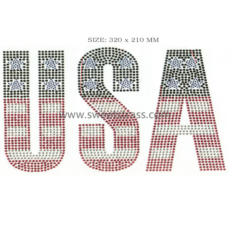USA letter motif transfer for clothes