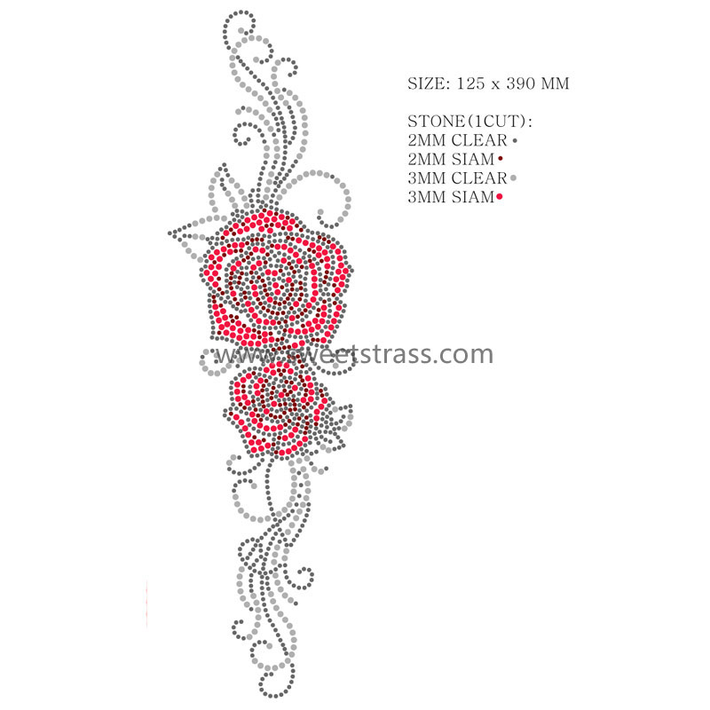 wholesale rose flower motif T-shirt designs
