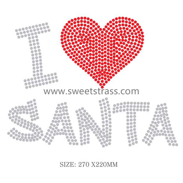 I love santa customized stone sheet transfer