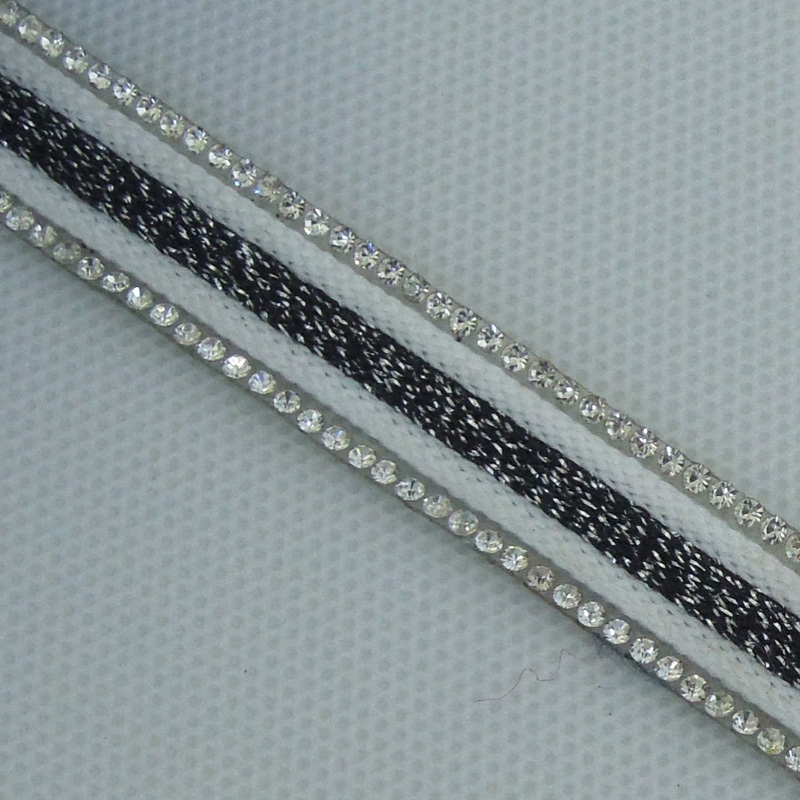 Hot melt 1.4cm adhesive film rhinestone and fabric tape