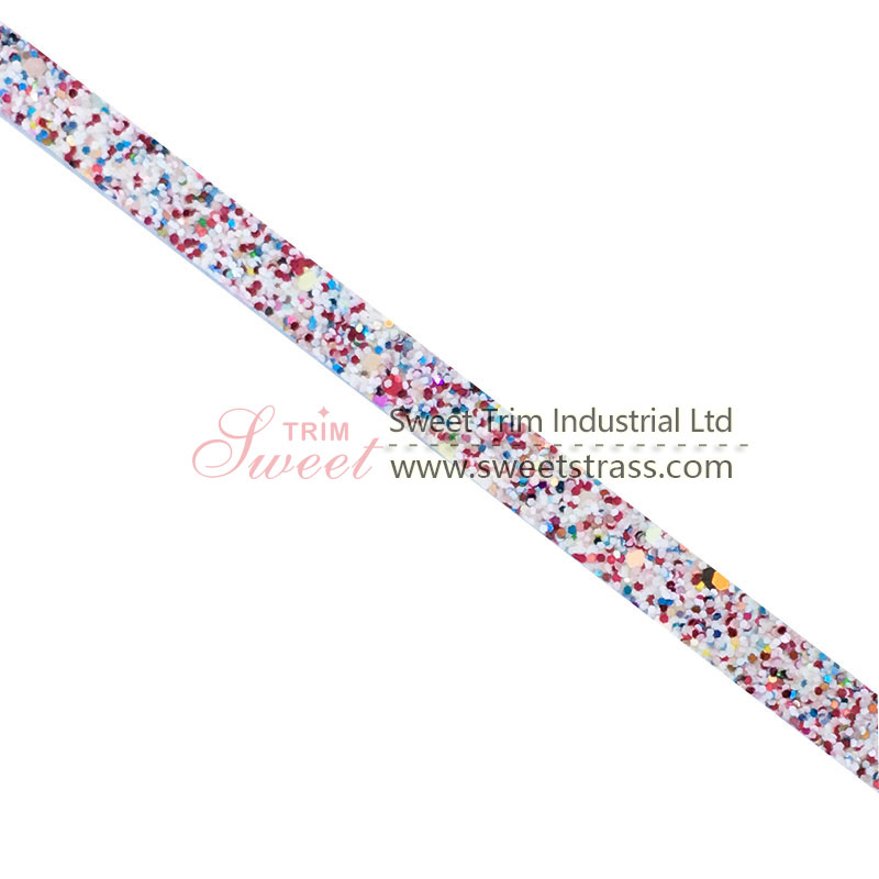 New Design Rhinestone Banding Resin Hot Fix on Dress Shoes Strips Trimming Clothing Accessories