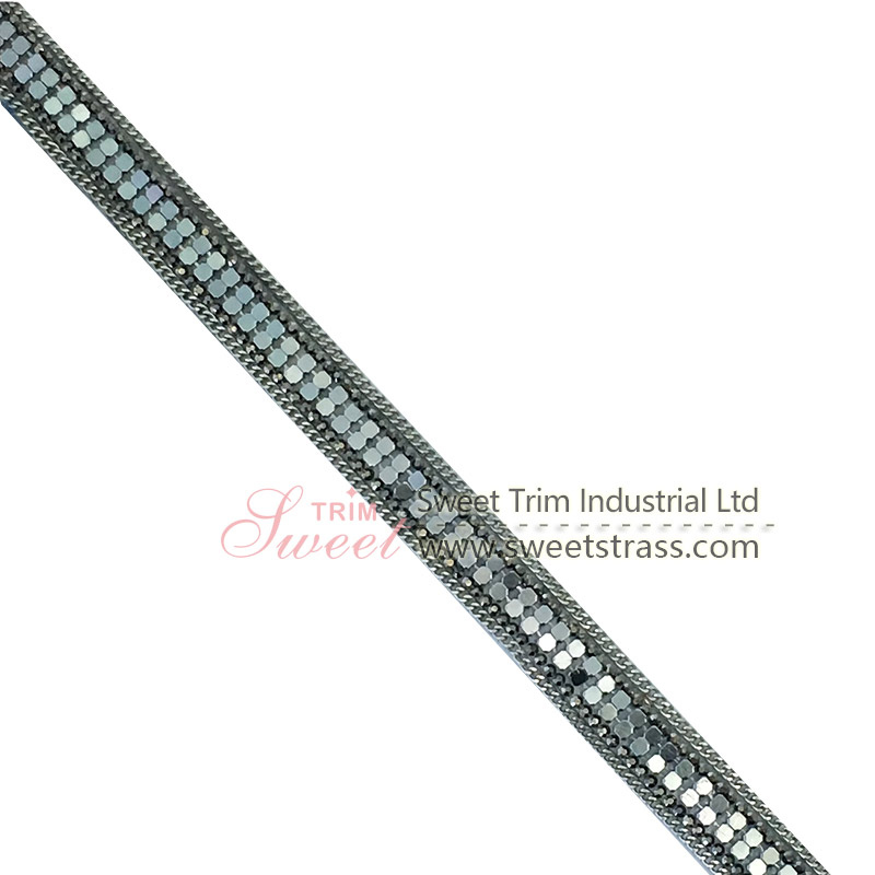 Hot selling rhinestone applique trim for shoes handbag accessories