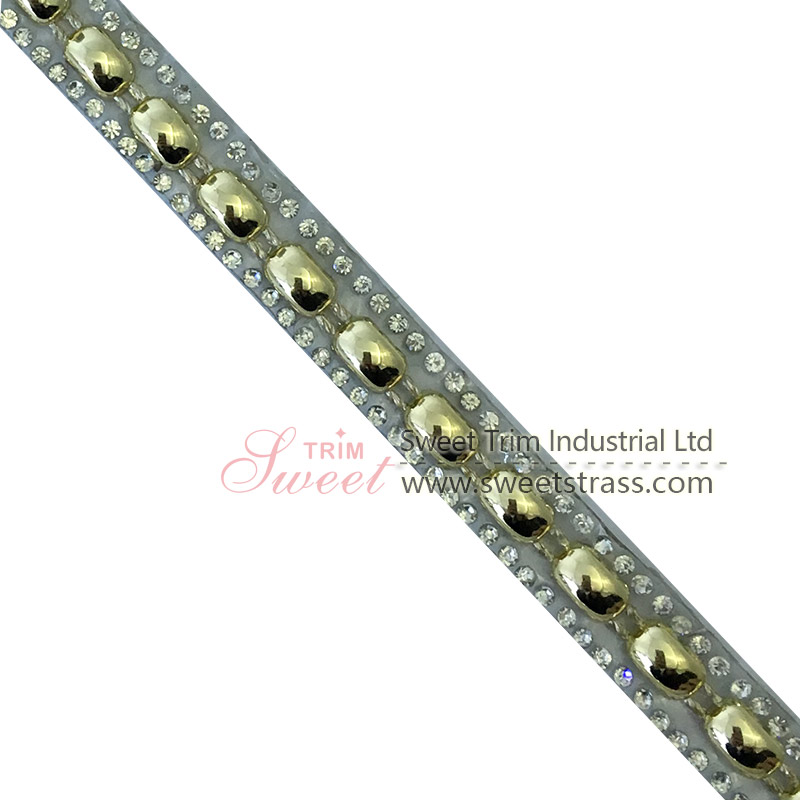 hot fix rhinestone applique tape with glue on the back