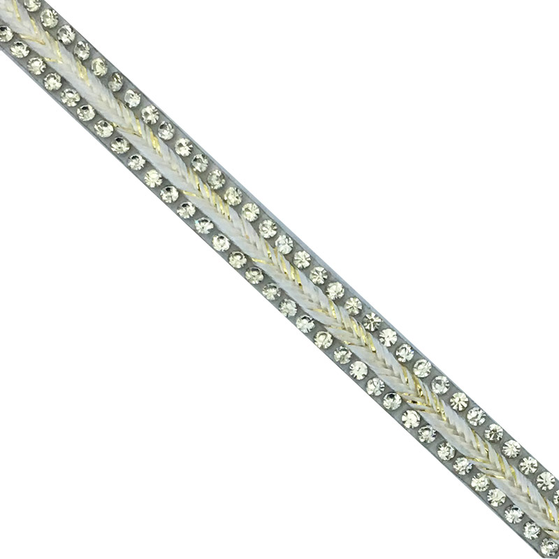 White crystal rhinestone strass Fashionable trim Popular trim for handbag