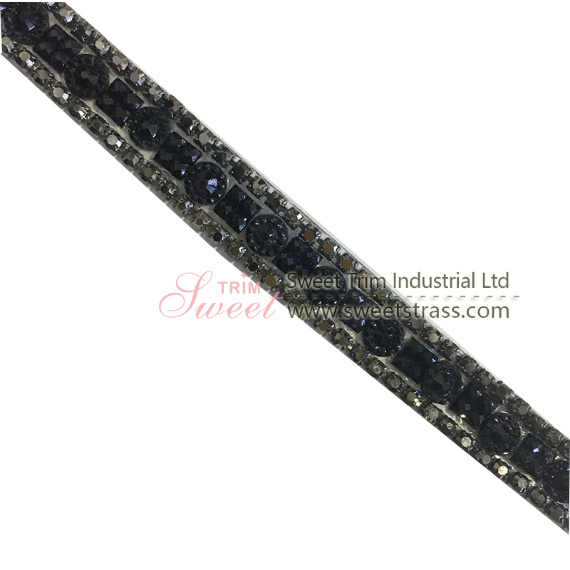 1.2cm width black iron on ribbon for shoes