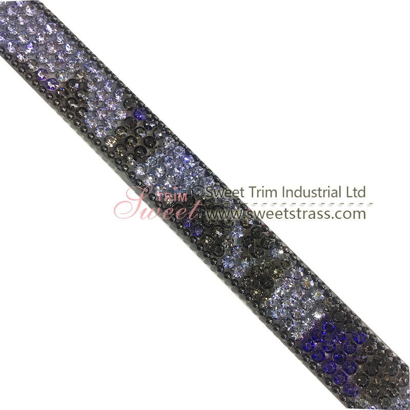 2019 hot fix rhinestone mesh transfer ribbon by roll