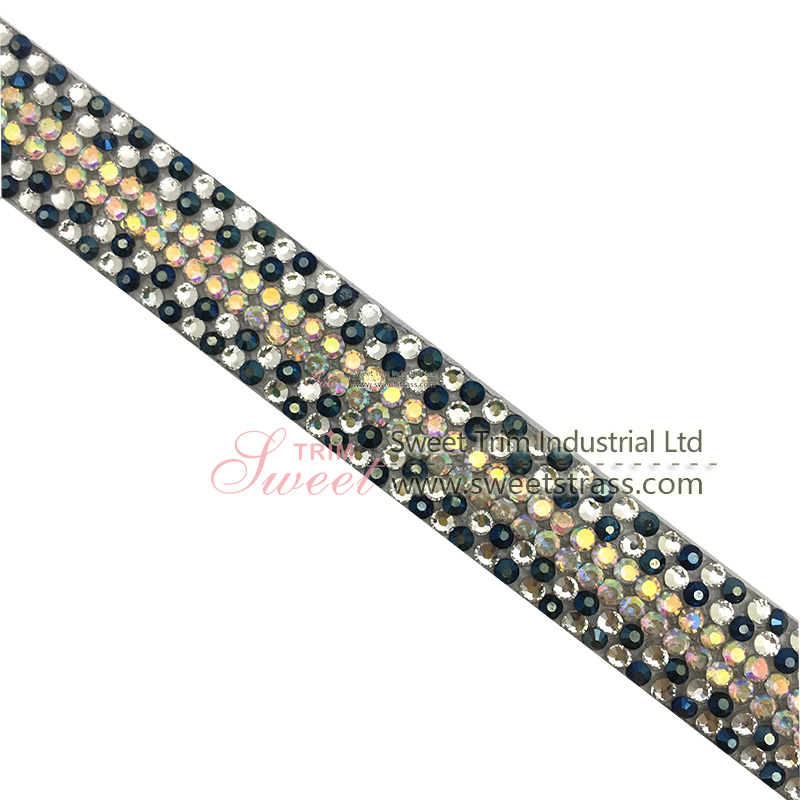 Hotfix Rhinestone Chain Trimming Strass Glass Crystal Mesh Banding Trim For Clothes Decoration